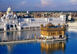 Hills With Golden Temple